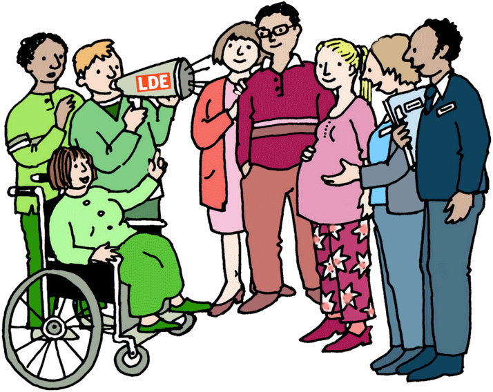 An illustration of the three groups that make up Learning Disability England